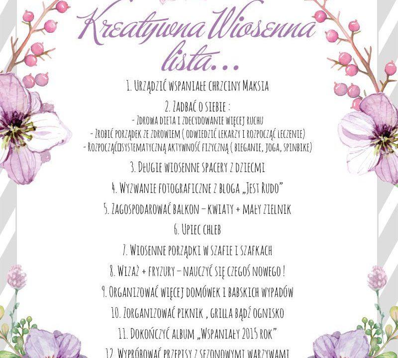 Kreatywna wiosenna lista... 1
