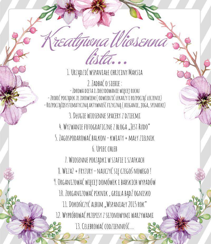 Kreatywna wiosenna lista...