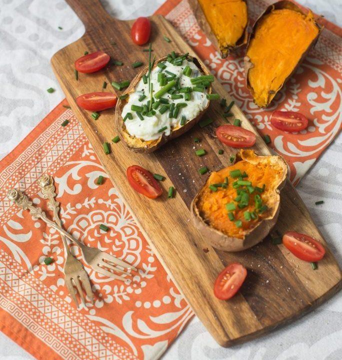 Pieczone bataty z sosem tzatziki 2