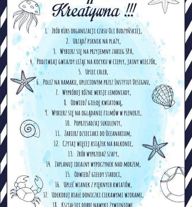 Wakacyjna lista kreatywna co warto zrobić w te wakacje 1