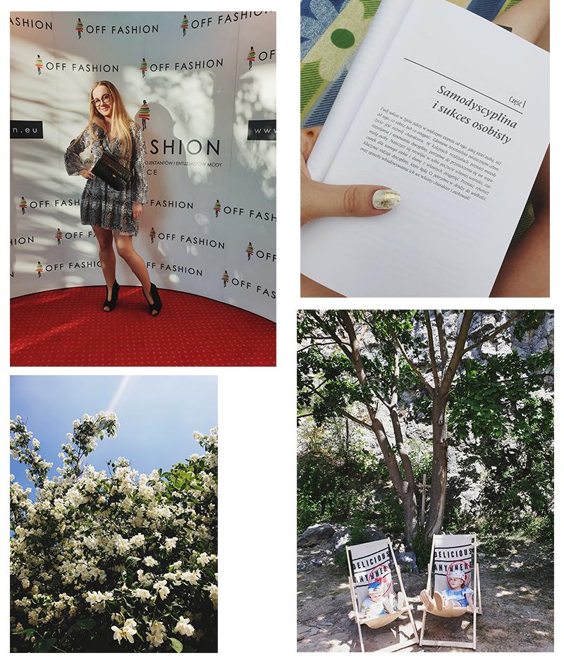 Byłam na finale OFF Fashion,który reżyserowała moja przyjaciółka Magda Brojewska/ Dużo czytałam na świeżym powietrzu/ Kocham zapachy czerwca: jaśmin i akacje/ Dzieci odpoczywają na Kadzielnia Sport Festiwal