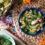 Makaron z zielonego groszku z boczkiem i pesto pietruszkowym