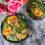 Wegańska sałatka z pomarańczą, komosą ryżową i granatem
